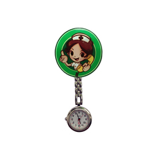 цены на Cute Cartoon Girl Clip Nurse Doctor Pendant Pocket Quartz Red Cross Brooch Nurses Movement Pocket Watch в интернет-магазинах