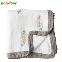 4 Layers Baby Blanket For Newborns Bamboo Fiber Cotton Muslin Swaddle For Infant Baby Bedding Sheet