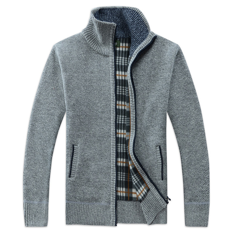 Men's Clothing Cardigans 2019 New Mens Thick Sweater Coat Male Autumn Winter Down Sweatercoat Black Blue Gray Zipper Sweater Jacket Outerwear M-3xl