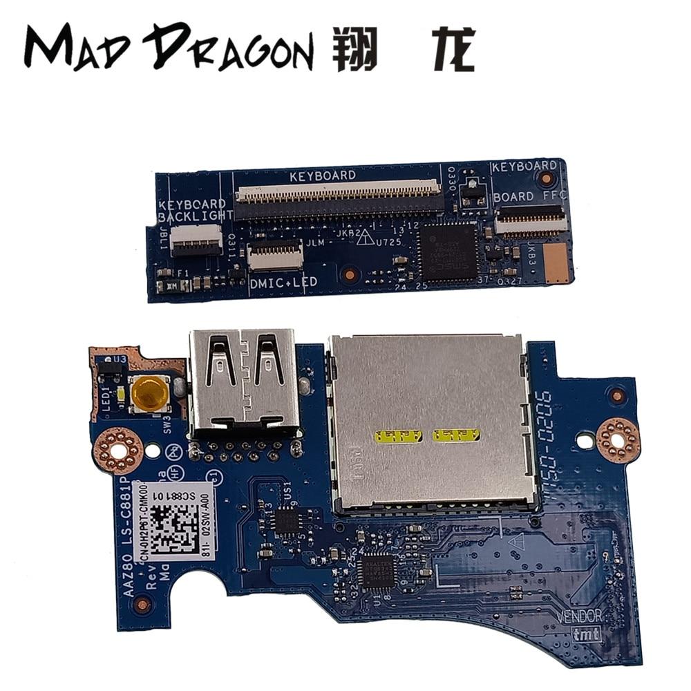 Dell XPS 13 9350 9360 USB Port// SD Card Reader IO Circuit Board 0H2P6T H2P6T
