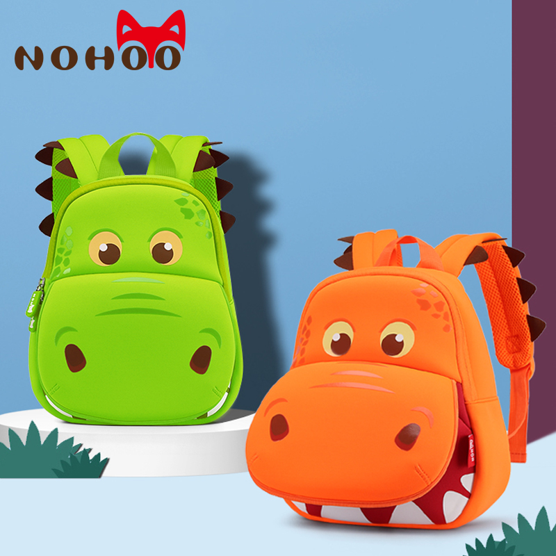 Cute 3D Cartoon Hippo Backpack School Bag for Kindergarden Kids Boy Girl Toddler