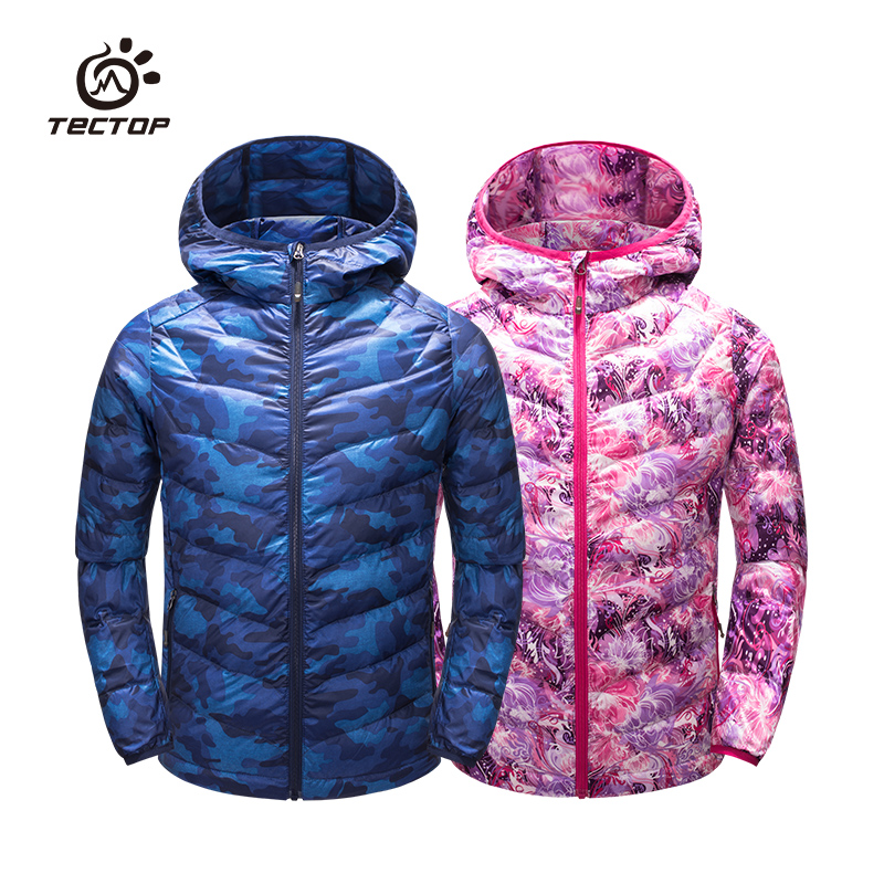 Tectop autumn and winter Camouflage down coat paragraph child breathable comfortable thermal tectop winter 90