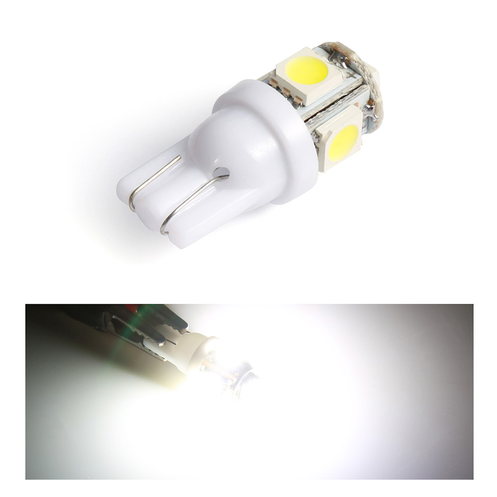 1pcs T10 W5W LED Bulbs 5050 <font><b>5</b></font> <font><b>SMD</b></font> 194 168 White Wedge Interior Side Clearance Light Indicator Reading Tail Lamp Car-Styling image