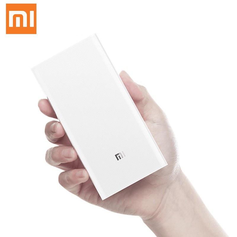 D'origine batterie externe de xiaomi 20000 mAh 2C chargeur portable Soutien QC3.0 Double USB mi batterie externe Banque 20000 pour téléphones portables