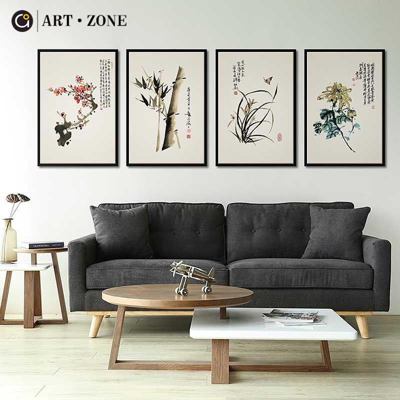 Print, Painting, Orchid, Picture, Style, Ink