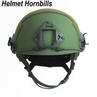Helmet Hornbills FAST High Cut Ballistic Bulletproof Tactical Helmet NIJ Level IIIA 3A Helmet With Test