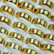 30 шт винтажные золотые кольца из нержавеющей стали в стиле