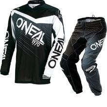 2018 Elemento Preto Cinza Jersey & Calças MX Motocross Dirt Bike Moto Off-road Engrenagem de Combinação Set