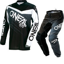 2018 MX Element Black Grey Jersey Pants Combo Motocross Motorbike Dirt Bike Off road Gear Set