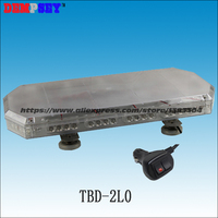 TBD-2L6 mini Led barra de luz/luz de advertência de Alta Potência/Heavy base magnética CONDUZIU A luz/Mini Strobe Lightbar