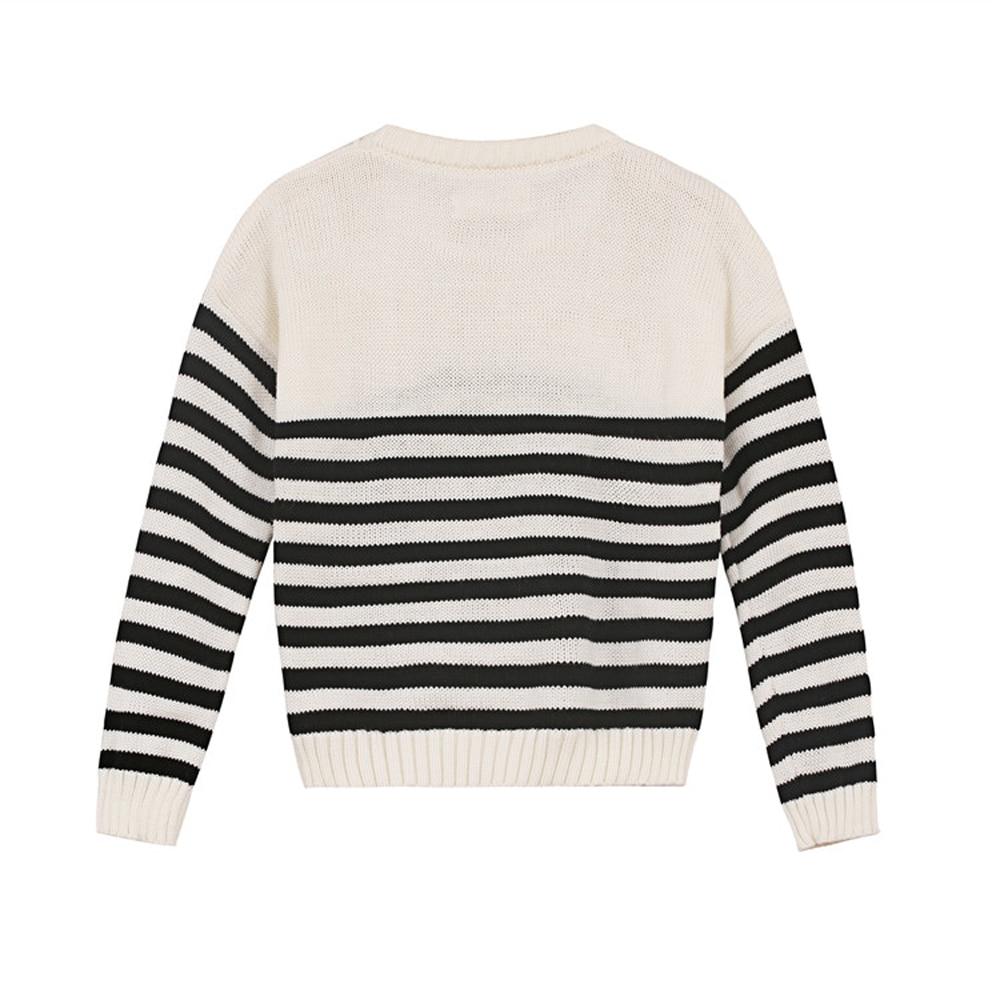 YKYY-YAKUYIYI-Girls-Pullover-Sweater-White-Black-Striped-Baby-Girls-Knit-Tops-Soft-Pockets-Children-Sweater-Girls-Clothing-2