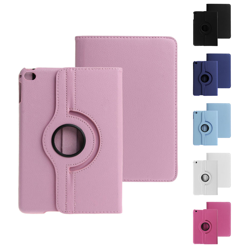 OOTDTY 360 Degree Rotating Smart Leather Stand Case Cover Holder 7.9'' Inch For Apple iPad Mini 4 Tablet Case Screen Protector new rotation 360 degree rotating leopard flip stand pu leather protective skin cover case for apple ipad mini 1 2 3 7 9 tablet