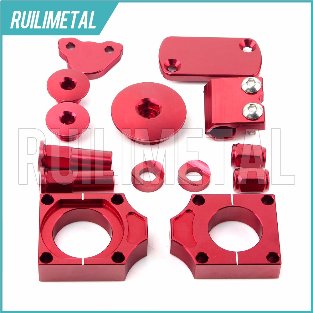 RED MX Motocross Offroad Bling Kits for CRF 250 R CRF X 250 2004 2005 2006 2007 2008 2009 2010 2011 2012 2013 2014 2015 2016