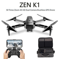 VISUO ZEN K1 GPS RC Drone with 4K Wide Angle HD Dual Camera 5G WiFi FPV Brushless Drones Quadcopter 50 Times Zoom 28 Mins VS F11