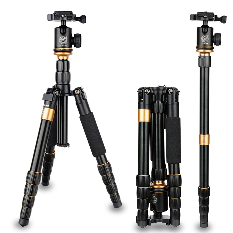 QZSD Q278 Aluminum Portable Digital Photography Tripod With Ball Head & Quick Release Shoe Plate Camera Stand For Video & DSLR pro q308 aluminum portable digital photography tripod with ball head