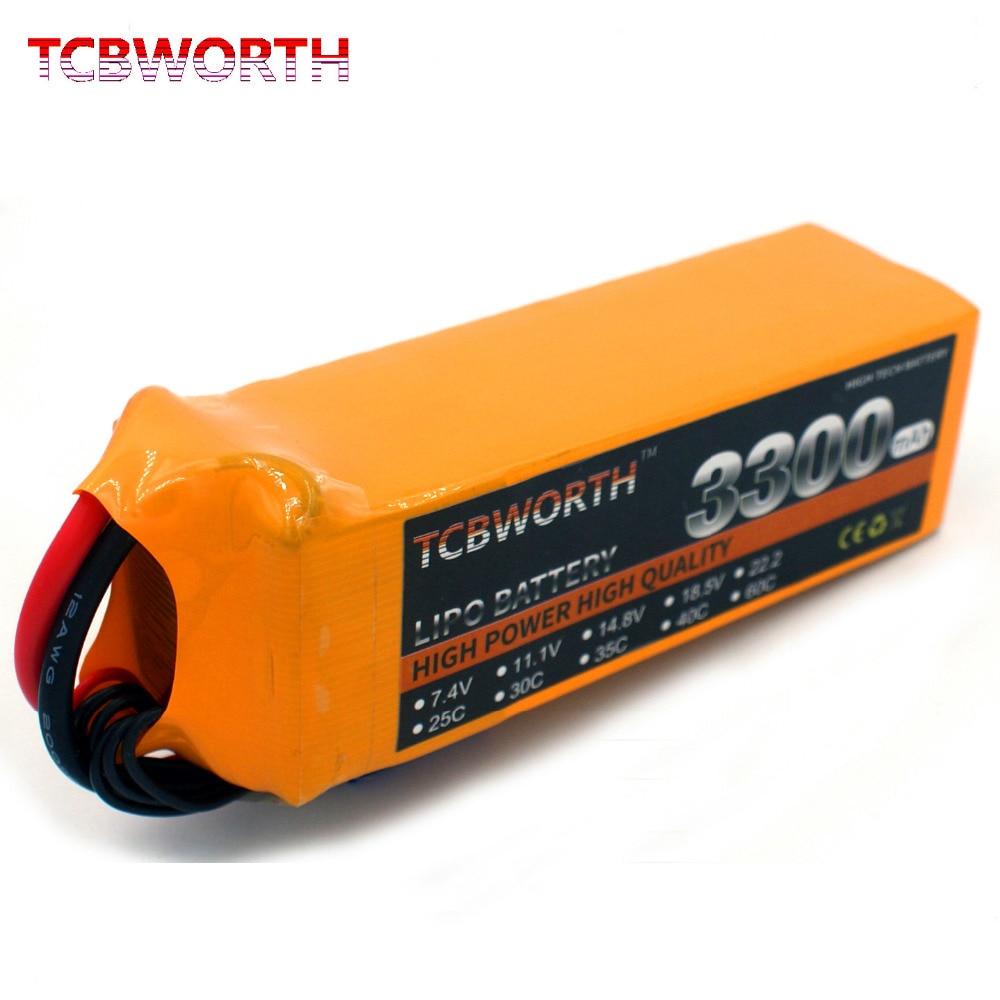 TCBWORTH 3300 mah RC Elicottero LiPo batteria 6 S 22.2 V 3300 mAh 60C Per RC Aereo Quadrotor Drone Auto barca Camion RC Lipo batteria