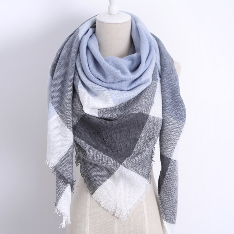 znacznv Winter Cashmere Scarf Women Shawl Plaid Foulard