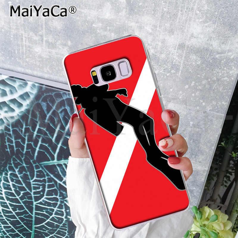 MaiYaCa Penyelam Bawah Scuba Bendera Lucu Kartun Ponsel Case Fundas untuk Samsung S9 S9 Plus S5 S6 S6edge S6plus S7 s7edge S8 S8plus