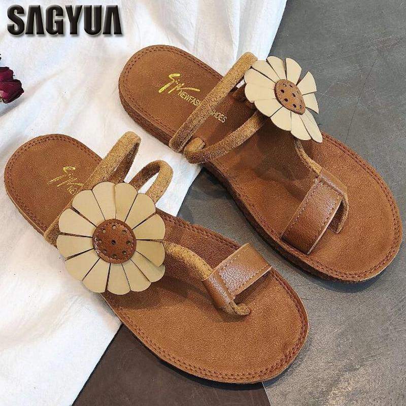 SAGYUA Thailand Sommer Böhmen Stil Frauen Casual Babouche Schuhe - Damenschuhe