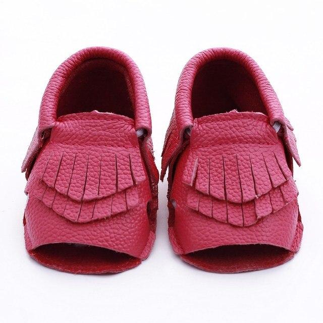 Новый Неподдельной Кожи Младенца обувь Кисточкой Малышей мальчики девочки Новорожденный Ребенок мокасины bebe Впервые Walkers Обувь Ручной Работы