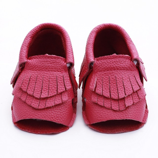 New Genuine Leather Baby shoes Tassel Toddler boys girls Newborn Baby moccasins bebe First Walkers Shoes Hand-made