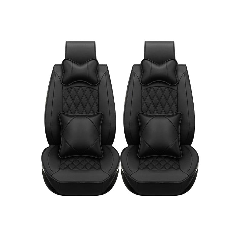 только 2 передних сиденья специальные кожаные автомобильные чехлы на сиденья для Хонда CRV XRV Одиссея Джаз города кросстур С1 CRIDER модель vezel Аккорд авто