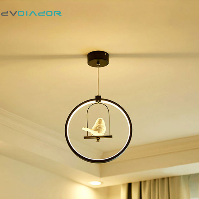 DVOLADOR 3 Farben Einstellbar Vogel LED Pendelleuchte Nordic Amerikanischen  Landhausstil Kreative Schlafzimmer Wohnzimmer Licht AC220V