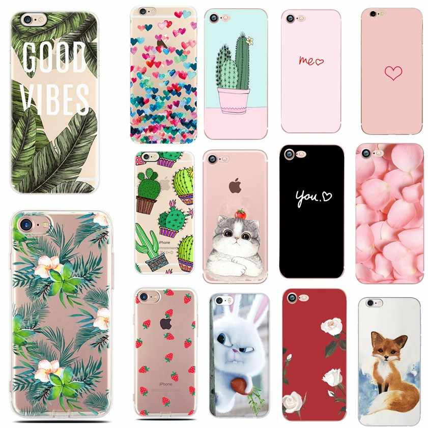 Cases For iphone 6 6S 8 Plus X 5SE 5 5S Soft Love Heart Phone Silicon TPU Capa Fundas for iPhone 7 7Plus Cases Phone Accessories