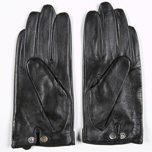 Image 3 - Gours 秋と冬の女性の革手袋ファッションブランド黒半袖駆動グローブ金属チェーンゴートスキンミトン GSL008