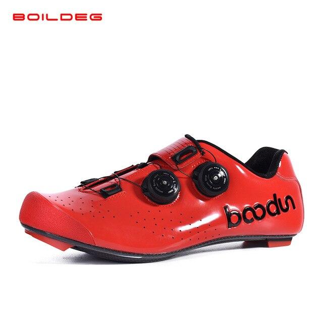 2019 novo quente sapatos de ciclismo de estrada de fibra de carbono auto-travamento ultraleve respirável wear antiderrapante profissional sapatos de corrida de bicicleta 3