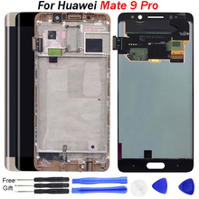 цена на For Huawei Mate 9 Pro LCD Display Touch Screen Digitizer LCD Screen Replacement With Frame for huawei MT9Pro Mate 9Pro LCD Parts