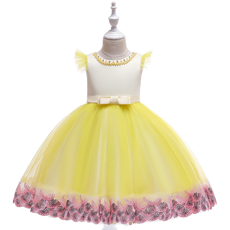 Beading Luxury Vintage Infant Baby Girl Dress Ruched Sleeveless Christening Flower Gown Dress ClothesBeading Luxury Vintage Infant Baby Girl Dress Ruched Sleeveless Christening Flower Gown Dress Clothes
