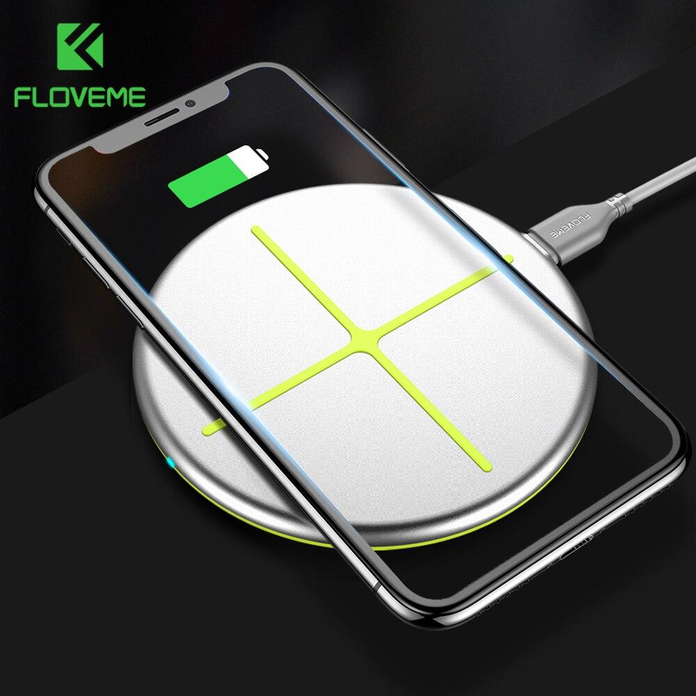 FLOVEME Caricabatterie Senza Fili Per Samsung Galaxy S9/S9 Più S8 Nota 8 QI Wireless Charger Pad Per iPhone X 8 Più Caricatori Per telefono