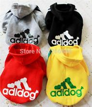 Wholesale 500PCS cotton pet clothes puppy dog cat coat cool hoodie sweater t-shirt costumes ropa para perros