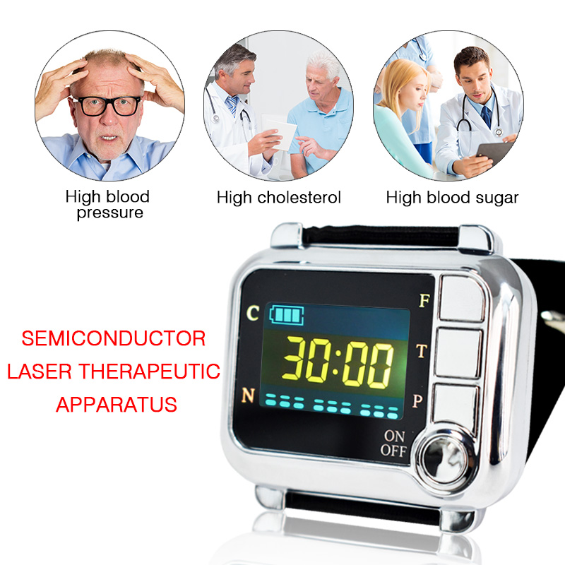 New healthy laser 650nm laser irradiation acupoint diabetes and rhinitis therapy instrument to reduce high pressure machine laser therapy watch laser therapy device to reduce high blood pressure high cholesterol rhinitis cholesterol cerebral thrombosis