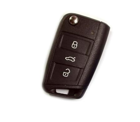 Жесткий Пластик БЕСКЛЮЧЕВОЙ дистанционный ключ защитный кожух(блеск для губ оранжевый) для VW Volkswagen Golf MK7