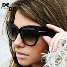 New Gradient Points Cat Eye Women Sunglasses Tom High Fashion Sun Glasses Female Cateyes Brand Designer Oculos