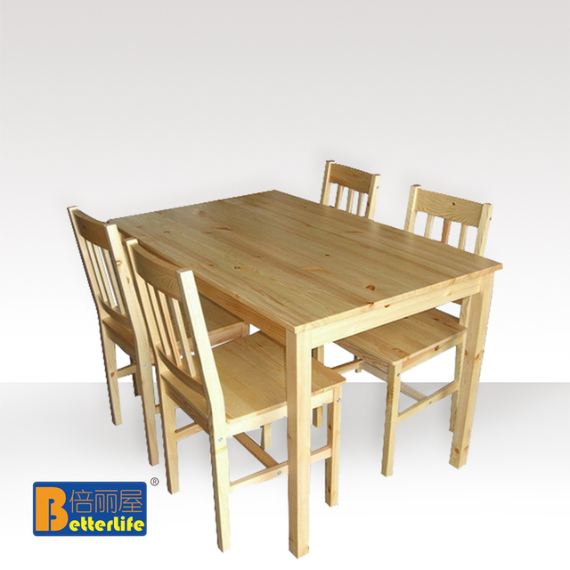 IKEA dining table dinette table and four chairs rice combination of pine wood house [ X  sc 1 st  AliExpress.com & IKEA dining table dinette table and four chairs rice combination of ...