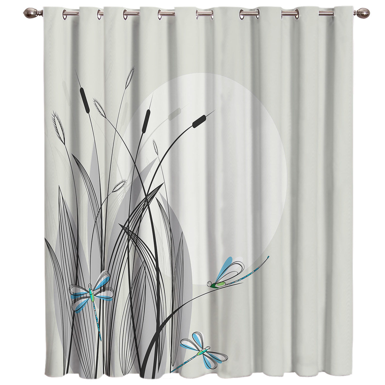 Dragonfly Room Curtains Large Window Window Curtains Dark Curtain Rod Blackout Bedroom Kitchen Outdoor Fabric Print Decor Window