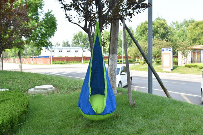 Blue Hanging Pod Chair
