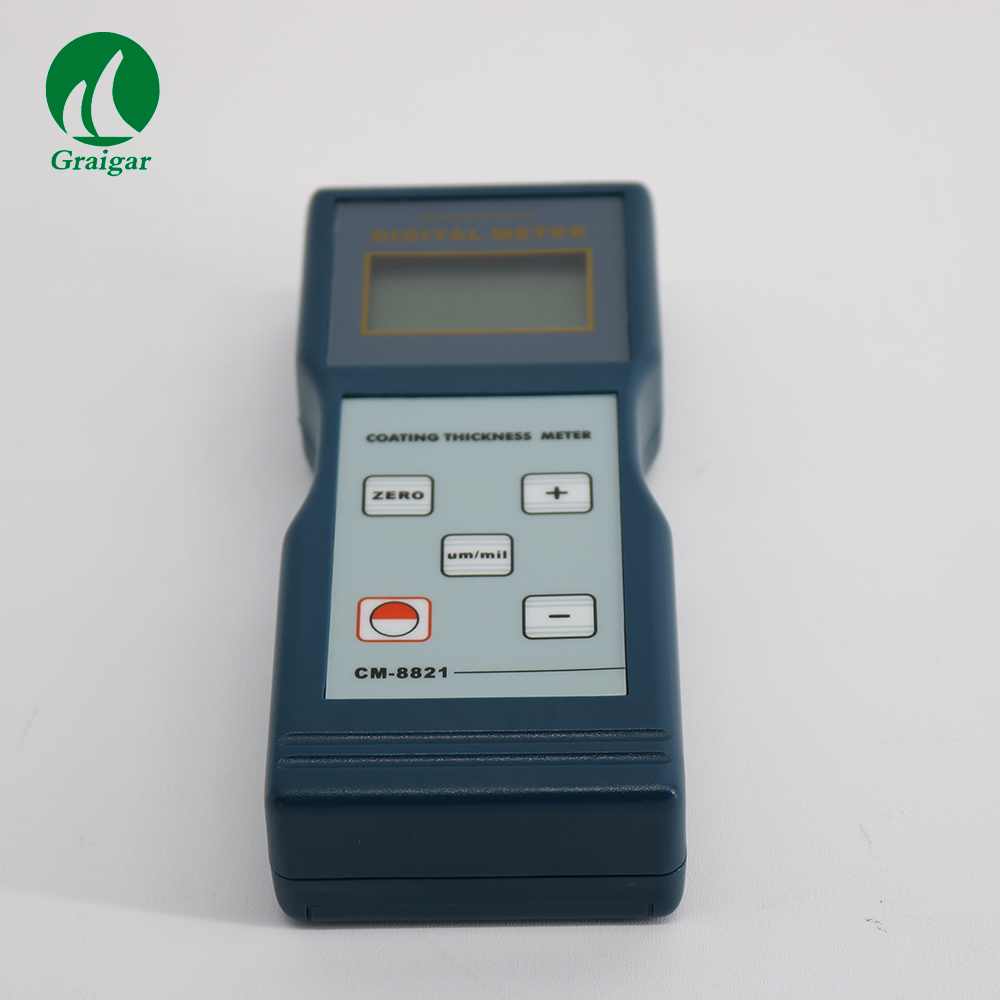 CM8821 Coating Thickness Gauge CM-8821 Min.Measuring Area 6mm Operating Conditions Temperature:0~50C