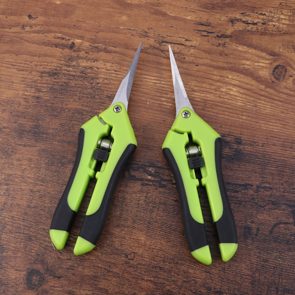 2 Pcs Gardening Scissors for Fruit and Flower Picking including Branch Pruning and Grass Trimming 11