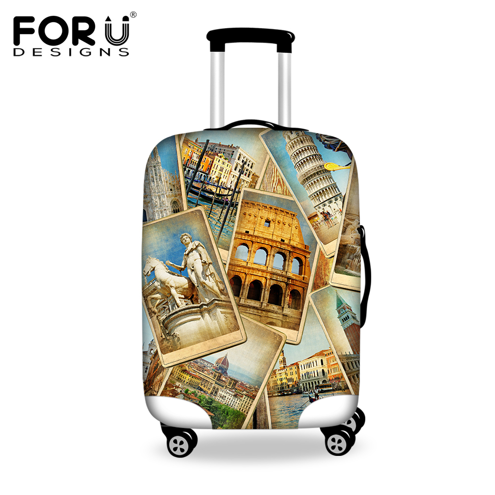 Vintage Elastic Luggage Protective Covers For 18 30 Inch Travel Trolley Case Thick Waterproof Dust Proof