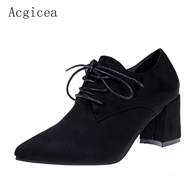 2017 New Autumn Women Plain Pumps High Heels Formal Dress Shoes