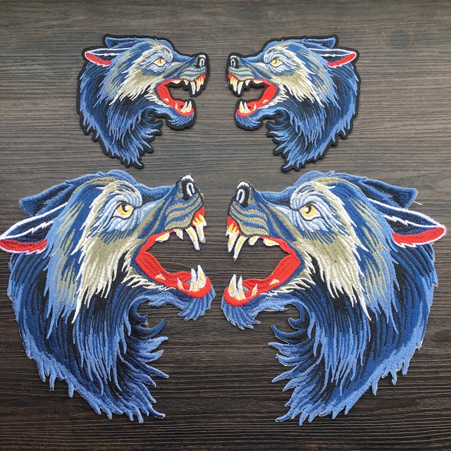 2c2837fde9117 US $3.59 |2018 New Arrival 1Pair Cool Wolf Iron on Patches / Animal  Embroidered Patch Appliques for DIY T shirt Jeans Jacket LSHB651-in Patches  from ...