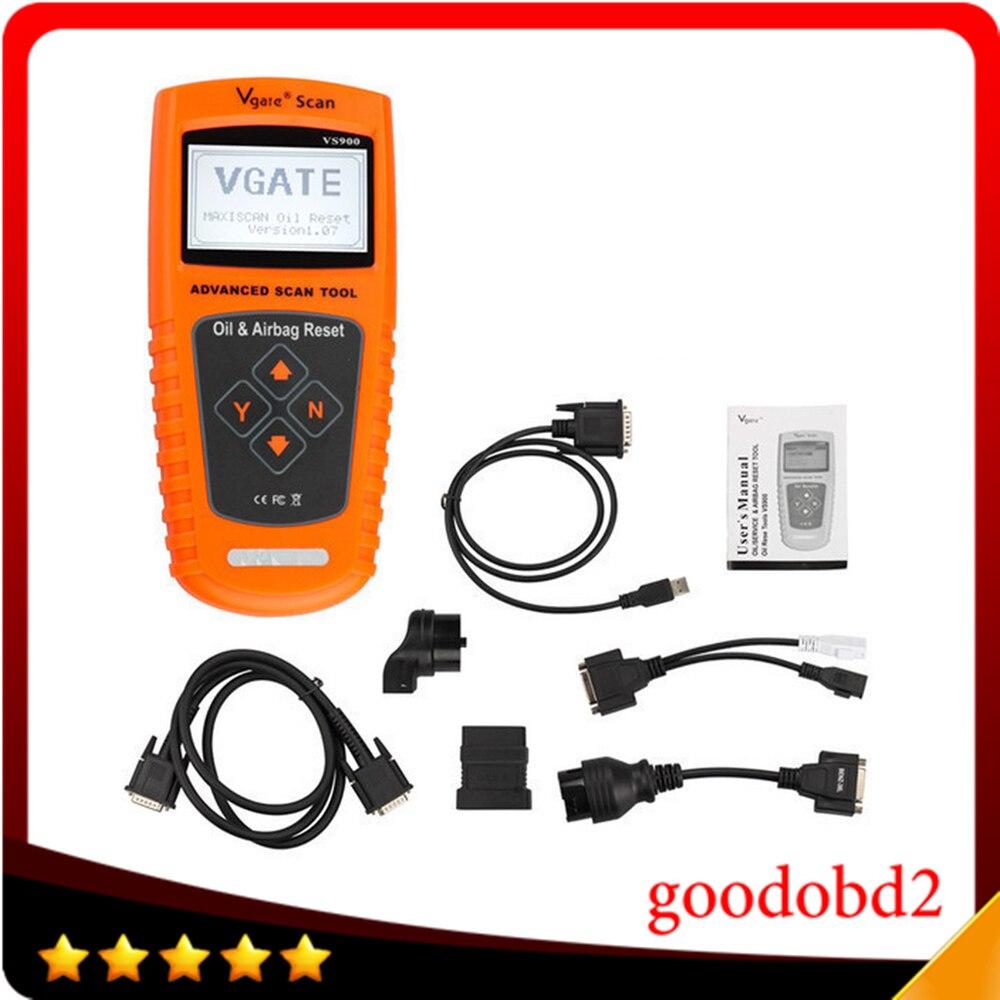 Цена за Vgate VS900 ОЙЛ Сервис и Автомобилей Airbag Reset Инструмент Vgate Сканер Инструмент Сброс Свет Осмотра Масла Сброс Без Пластиковой Коробке