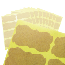 80pcs/lot Blank Special Shape Kraft Paper Label Sticker For DIY Note Diary Gift Student Girl Kids Writting