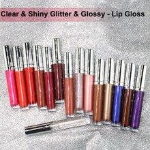 새로운 26 색상 오래 지속 방수 액체 립글로스 명확한 반짝이 반짝이 광택 메이크업 립글로스 사용자 정의 개인 레이블 도매