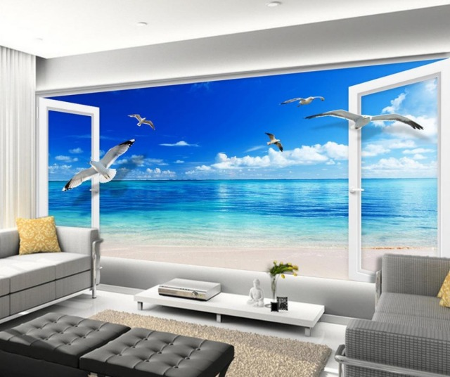 mural 3d wallpaper 3d wall papers for tv backdrop blue sky