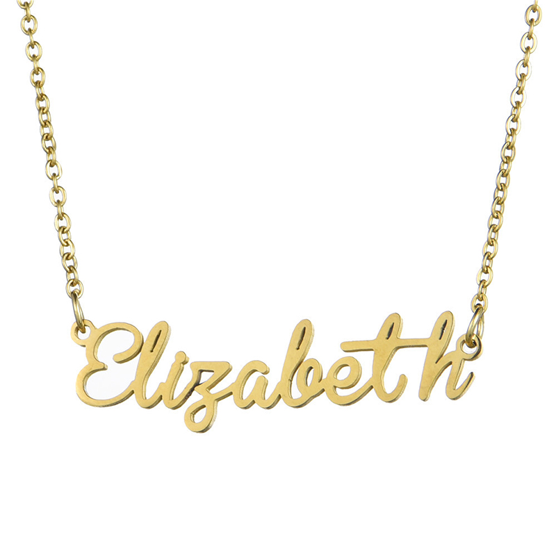 60f996a26 Gold Color Necklace Jewelry Stainless Steel Personalized Custom Name  Necklace For Gift Nameplate Unisex Cross Pendant Choker - aliexpress.com -  imall.com